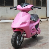 Pink Kid Scooter 2 Wheel Gas Powered Mini Scooter with Pull Start